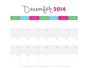 Cute-December-2014-Calendar